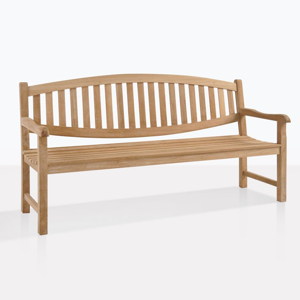 This Is A 3 Seat Version Of Our Classic Teak Bench We Call The Oval Back Because Of Its Subtle Curvature On The Teak Bench Teak Garden Bench Teak Bench Outdoor