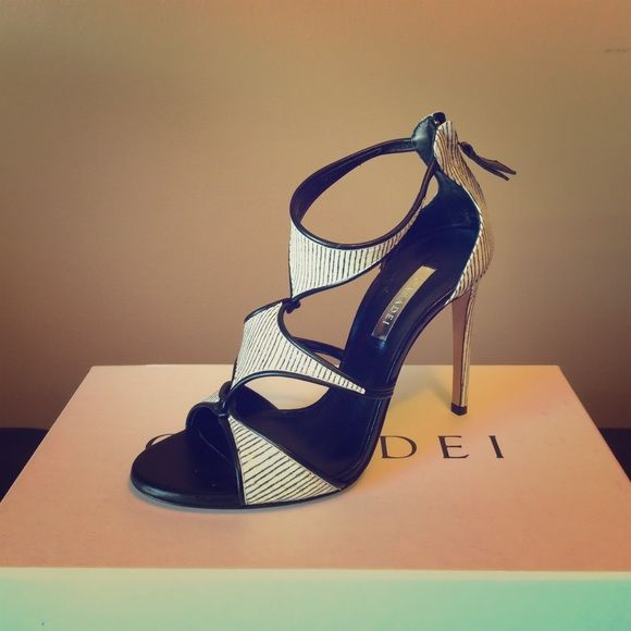 "Casadei Casadei Heel. Right shoe is slightly window burned.  Beautiful shoe. 4"" heel Casadei Shoes Heels"