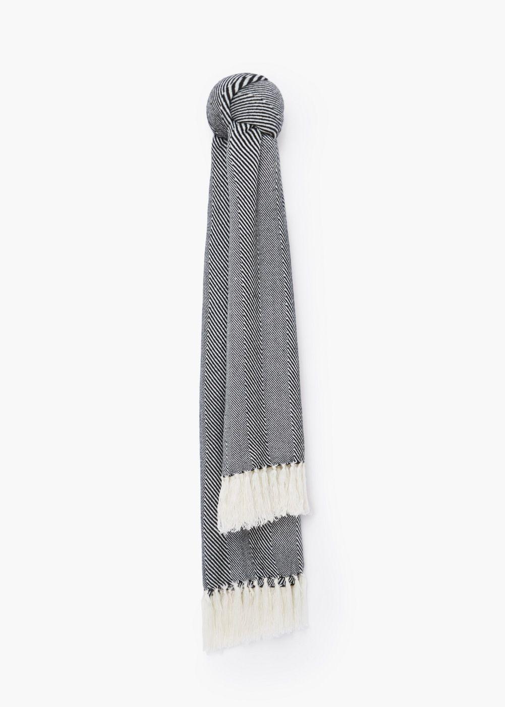 Écharpe à rayures bicolores - Femme   Pinterest   Rayures, Écharpes ... 9a715060e27