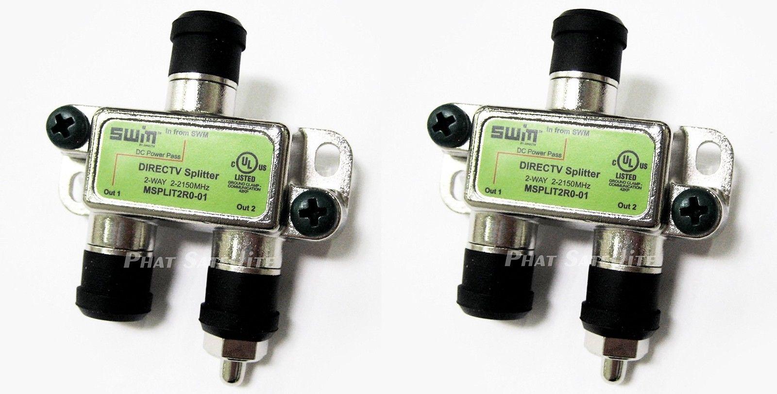 9 95 2 qty directv 2 way swm splitter msplit2r0 01 swim multi switch [ 1600 x 812 Pixel ]