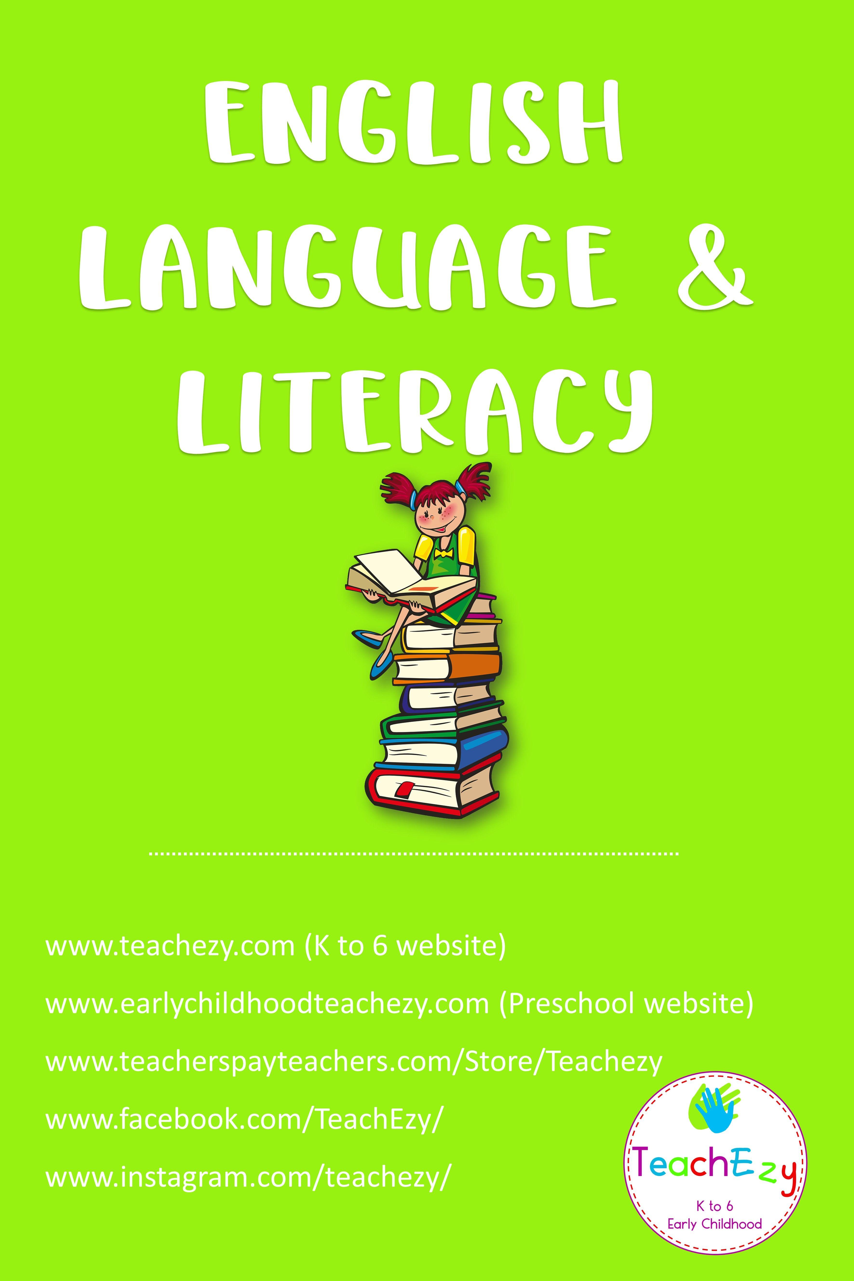 English Language And Literacy Teacher Resources
