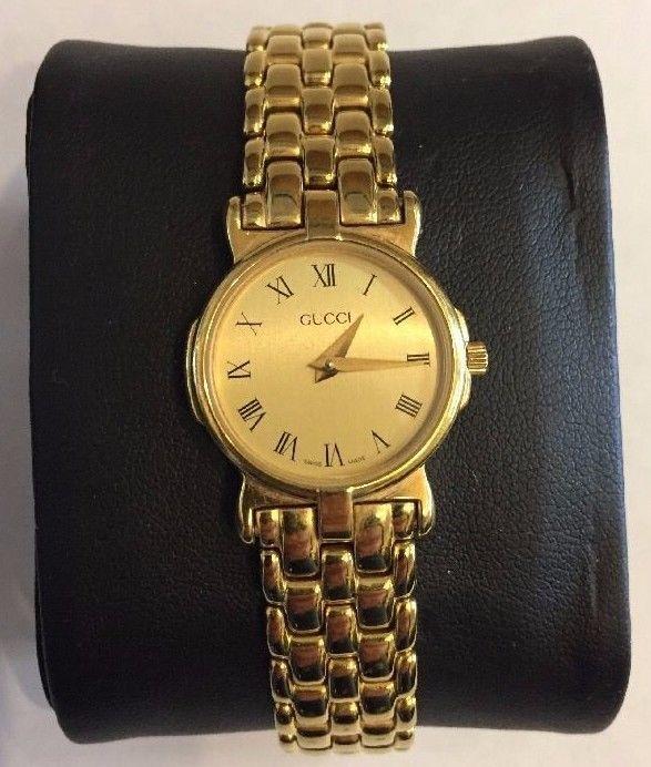 3072fc515b3 Gucci 3400 l gold tone roman numeral ladies watch~new battery ...