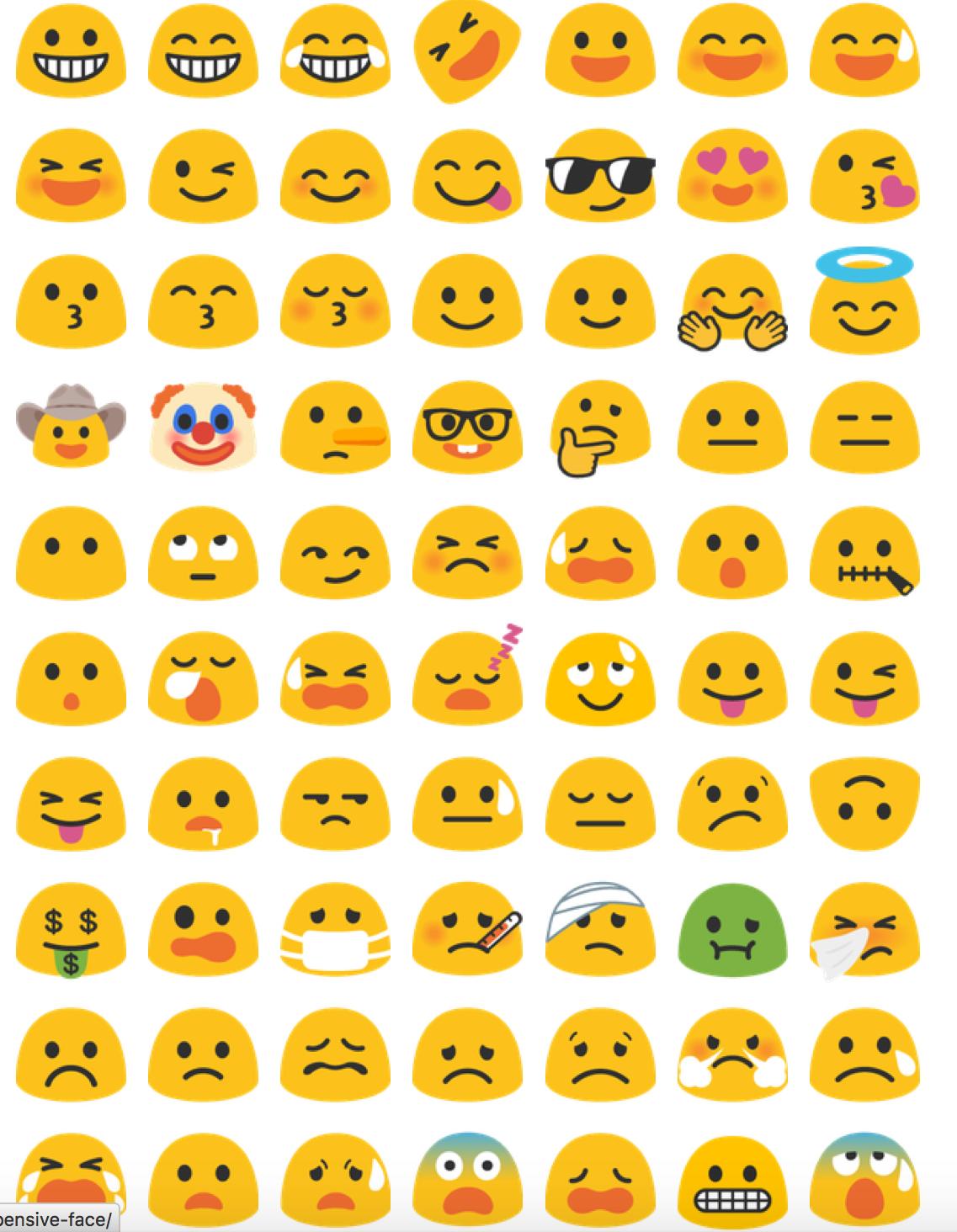 Google Android Emoji Duvar Kagitlari