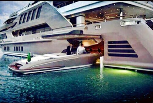 You Know You Re Rich When You Can Park Your Boat Inside