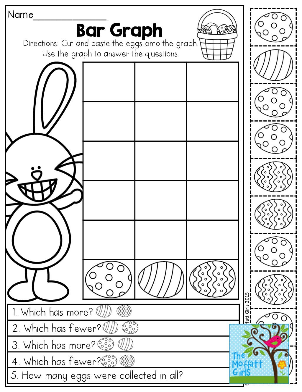 2 Easter Subtraction Worksheet Printable April No Prep