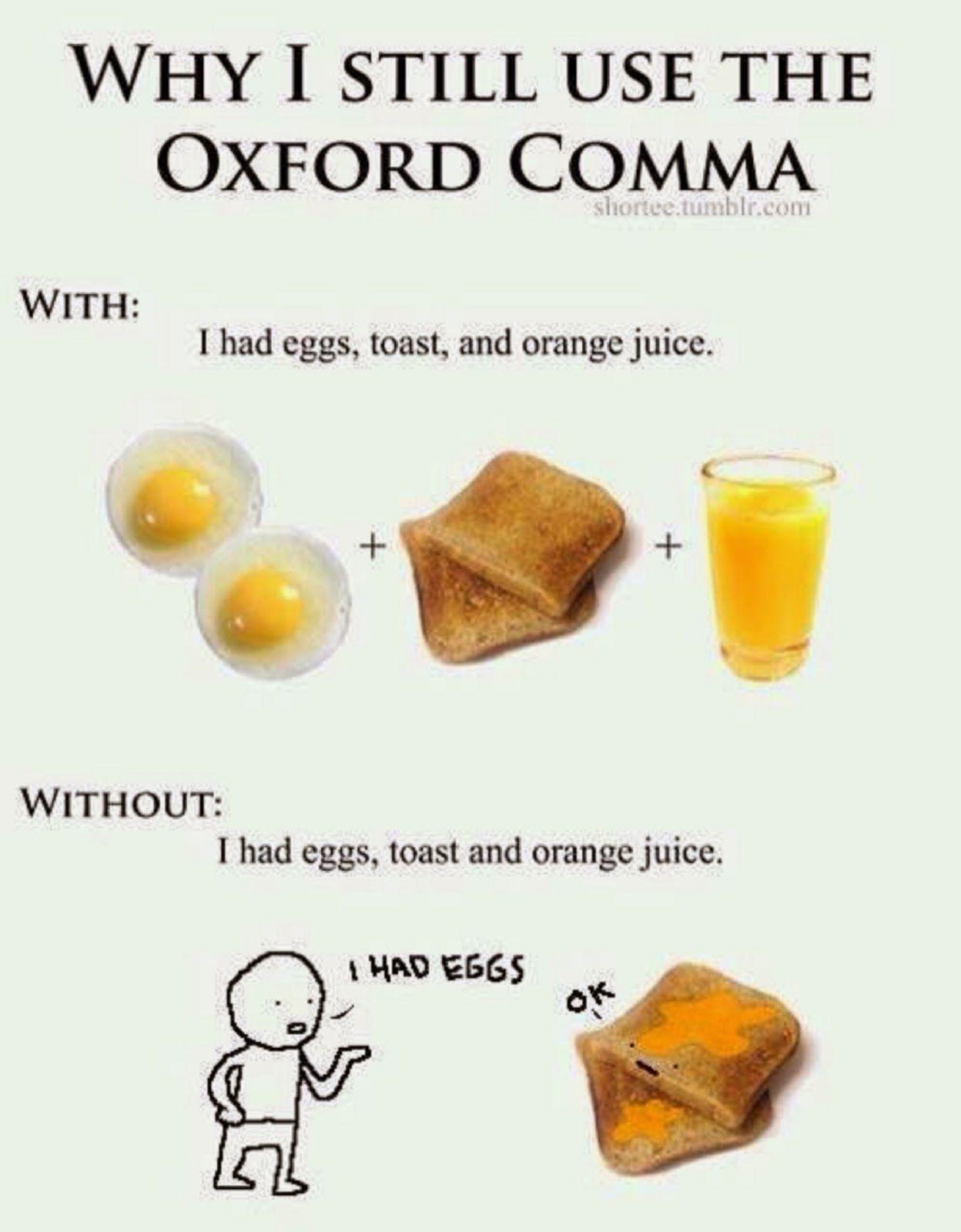 I Love Fun : Why I still use the Oxford comma...