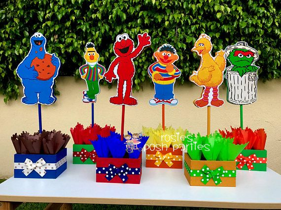 Sesame Street Elmo Birthday Centerpiece Decoration Cookie First Centerpieces Party Table Decorations