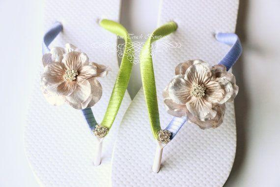 de5110e62c7655 Bridesmaid Flip Flops BRIDAL Flip Flops by Glamtouchboutique