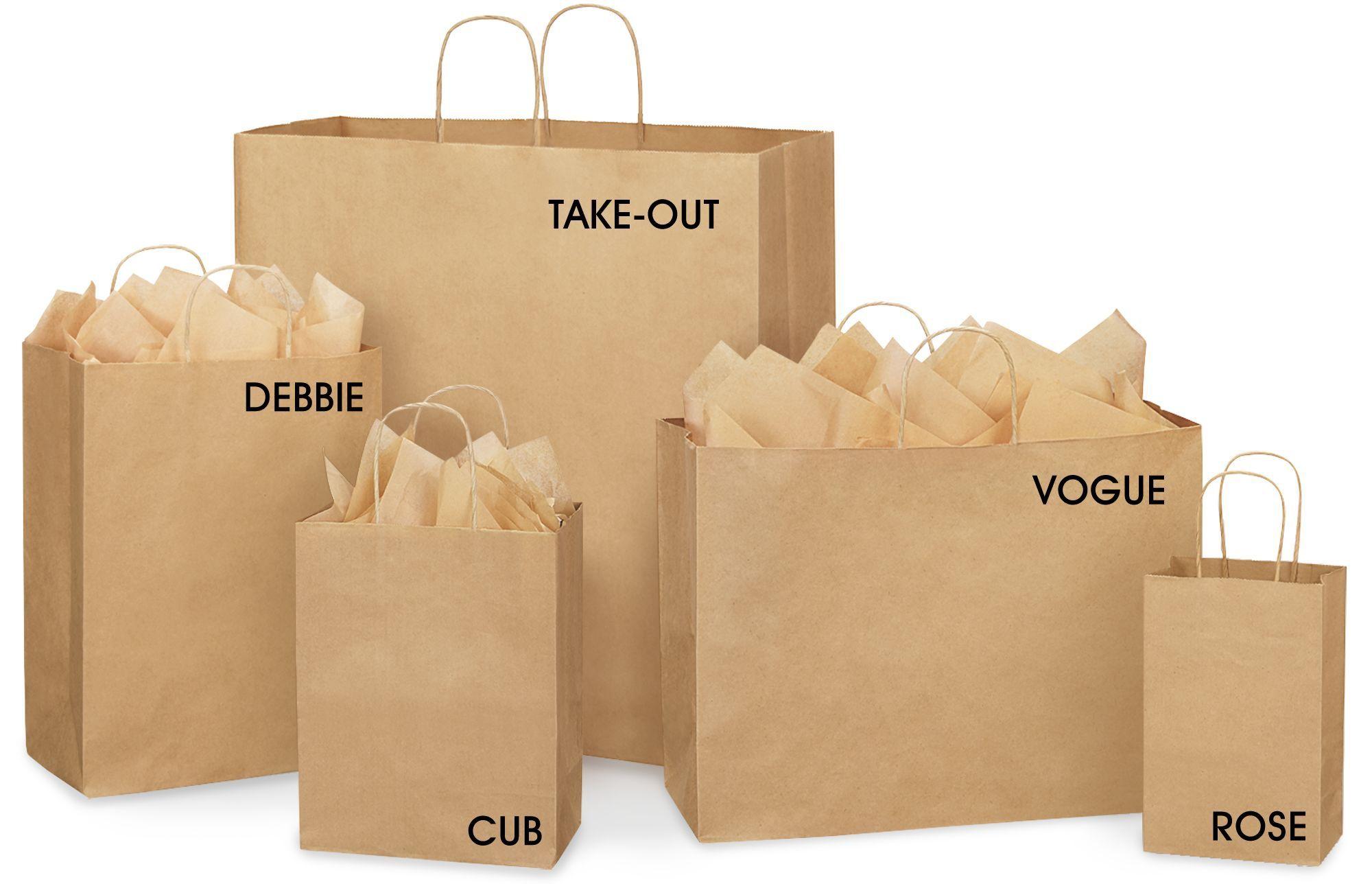 Great Visual Of Bag Sizes Brown Paper Gift Bags Kraft Ping In Stock Uline