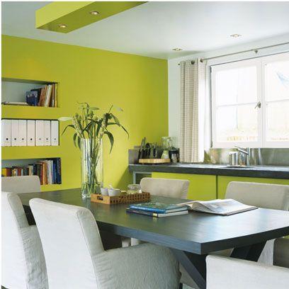 vert blanc gris - Decoration Salon Vert Pistache
