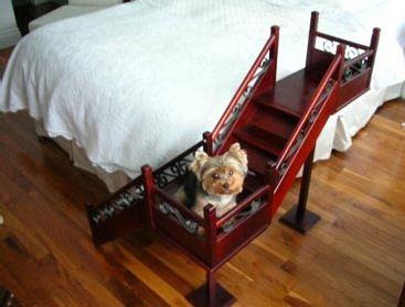 Escalera para cama bitacora marciana pinterest camas - Escaleras para perros pequenos ...
