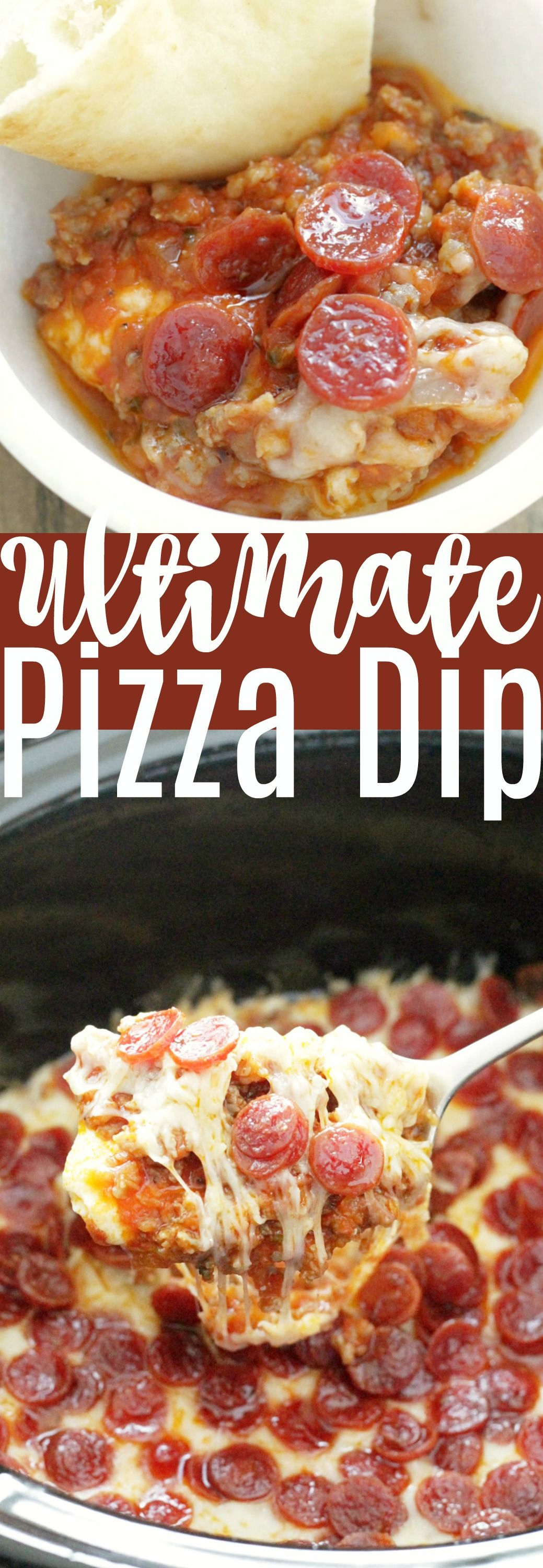 Ultimate Pizza Dip - for the Slow Cooker | Foodtastic Mom