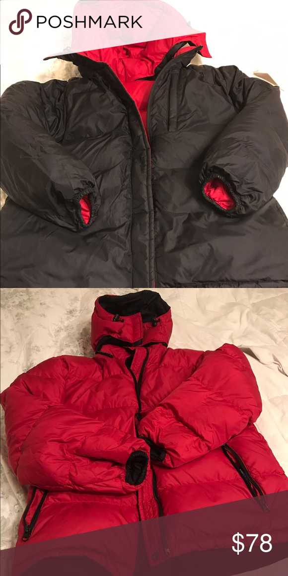 Lands End Riverseable Winter Jacket. Size 6-8 Like New. Bought it for my mom when she visited and she only wore it a few times. Reversible. Fits like a M-L Lands' End Jackets & Coats