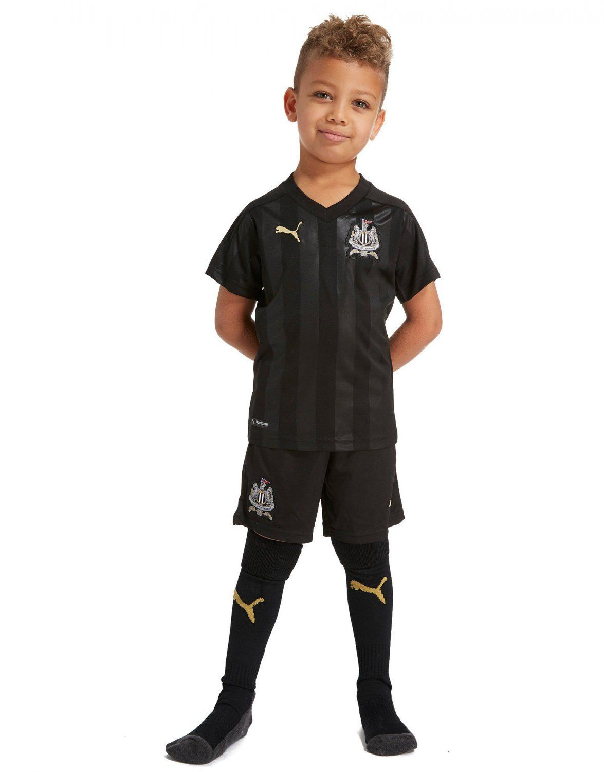 Newcastle+away+children s+wear+2018-2019+Jersey+W+Shorts+Kid+Youth+For+Age+3 -13 27e433241e426
