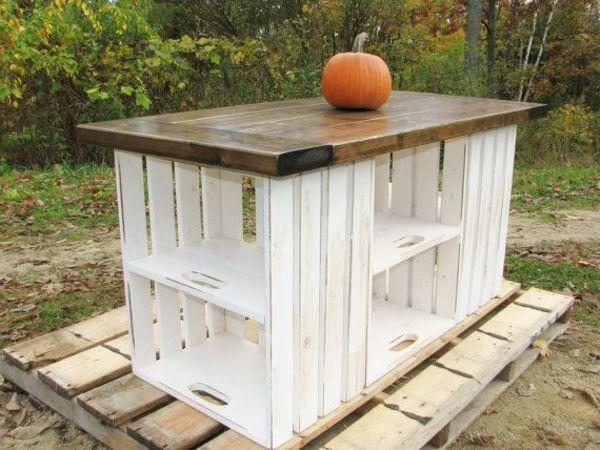 La Cuisine Avec îlot Central Idées De Décoration Et Design - Table a manger en bois pas cher pour idees de deco de cuisine