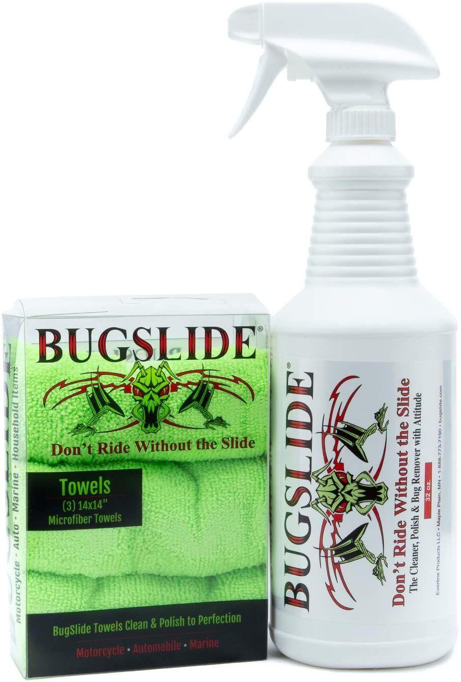 49 99 Best Bugslide Easy Application Clean And Polish Spray Kit Microfiber Towel Spray Bottle Hand Soap Bottle