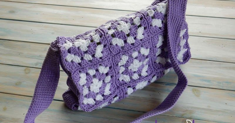 Happy Berry Crochet: Simple Granny Square Bag Crochet Pattern | This crochet messenger bag is the perfect road trip bag!
