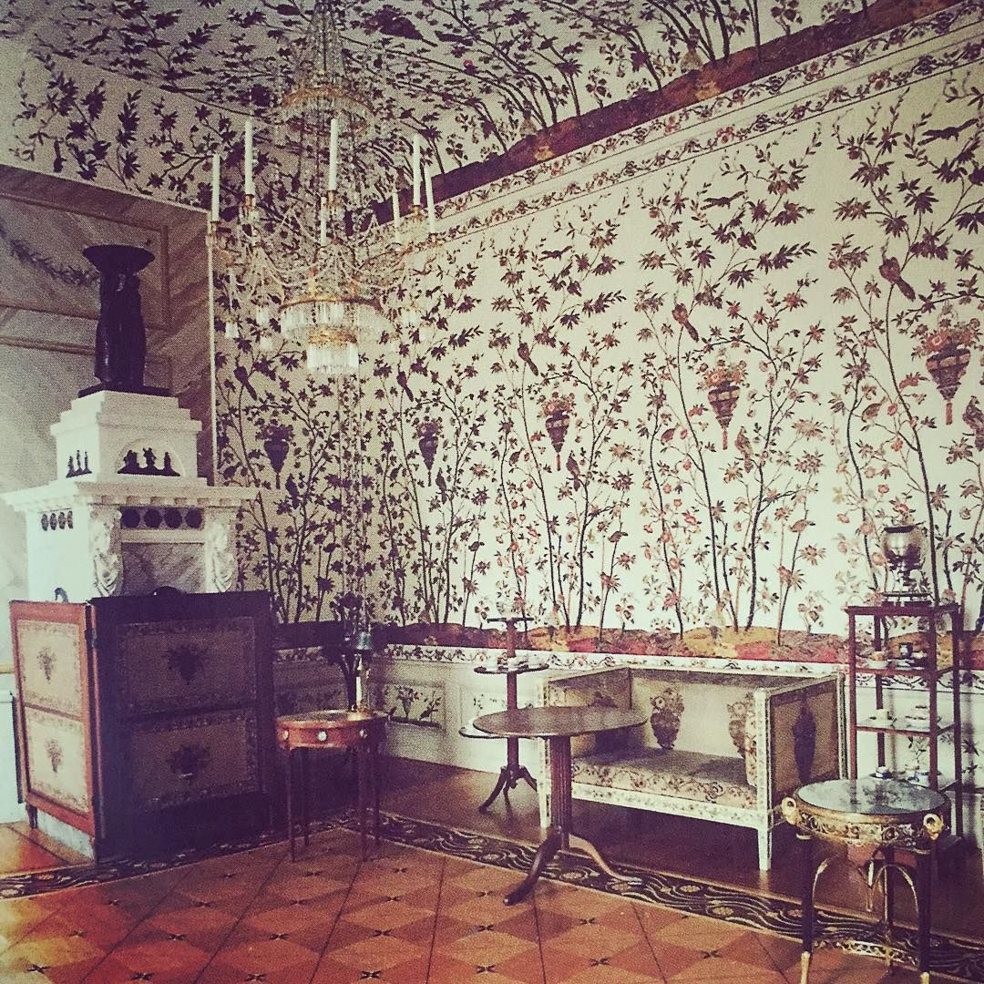 The Indian Chintz room at Charlottenburg Palace decorated in the ...