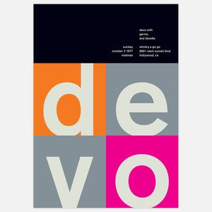Devo, 1977 17x23.75 now featured on Fab.