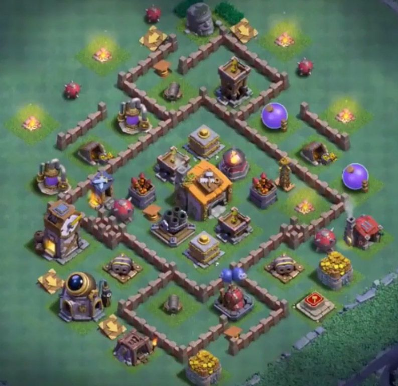 12 Best Builder Hall 6 Base Links Anti 1 Stars 4000 Clash Of Clans Free Clash Of Clans Base