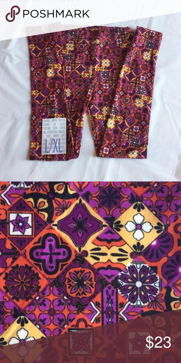 LuLaRoe Kids Leggings L//XL New Multicolored Pattern Box S