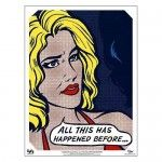 "Cylon Model Number Six in pop-art 18"" x 24"" poster form! Just $14.95 in our store."