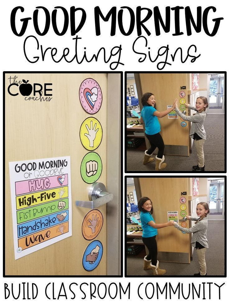 Editable Morning Greeting Signs • Morning Greeting Choices