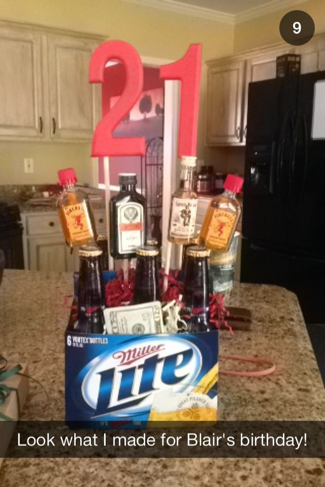 My Boyfriends 21st Birthday Present I Made Gift Ideas