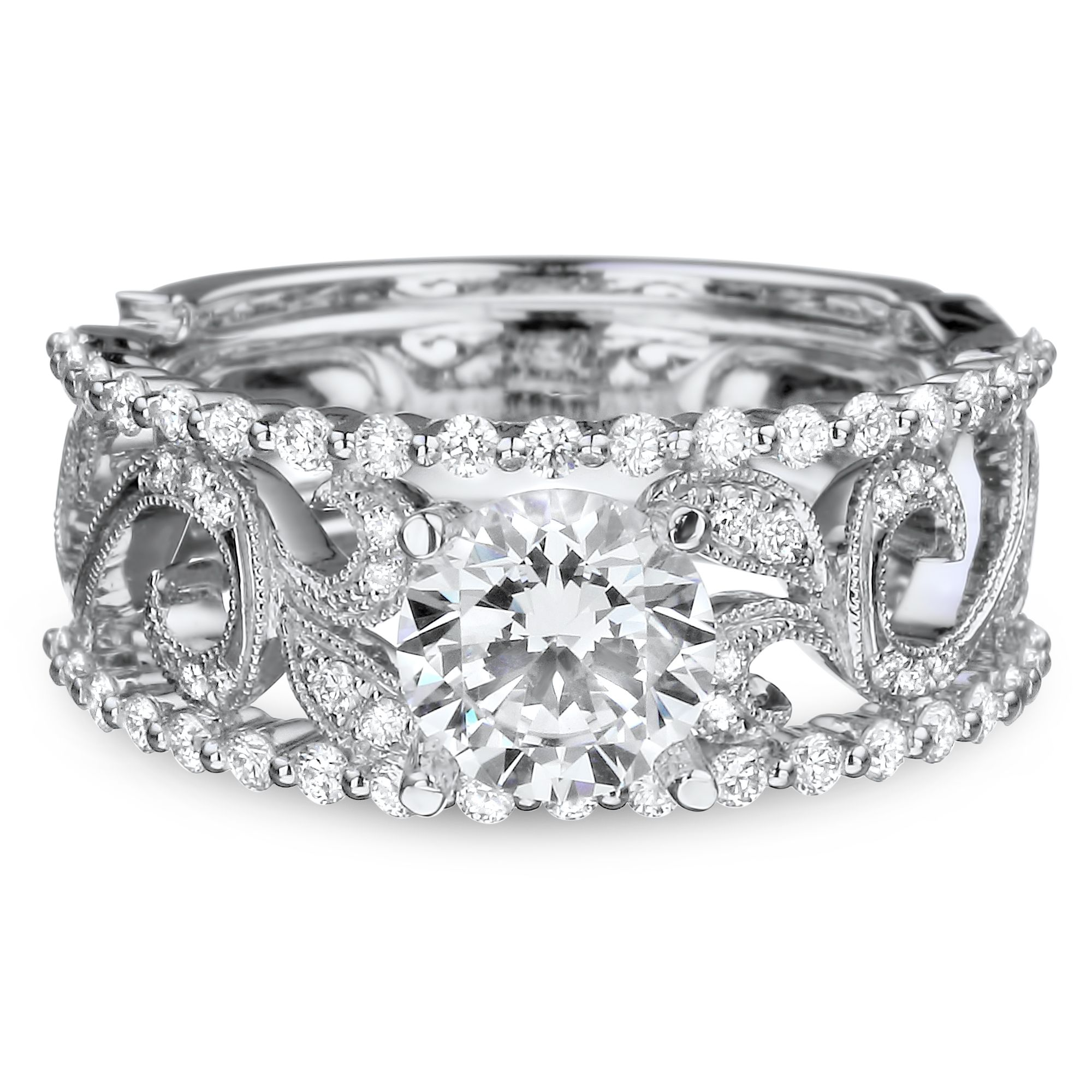 band diamond rings ring lane filigree neil the enlarged products jewelry bands realreal