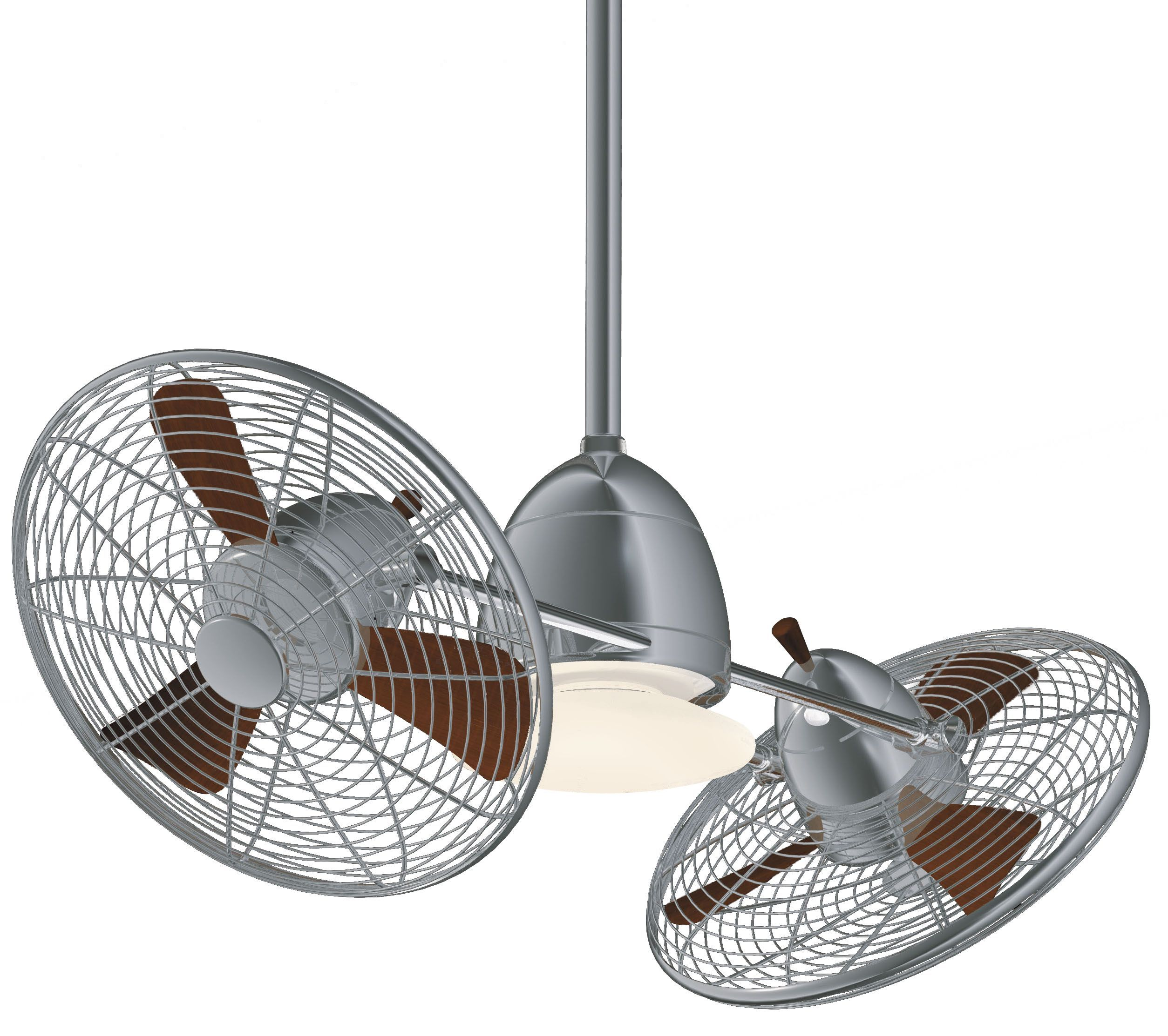 "Minka Aire Gyro Ceiling Fan 42"" Brushed Nickel with Chrome"