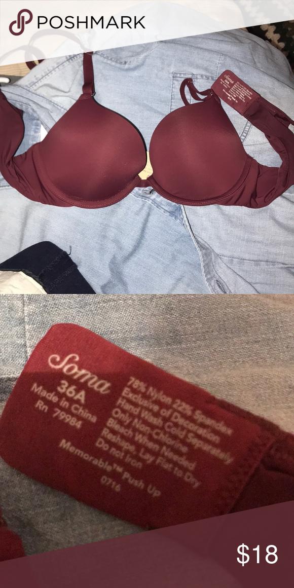 b9f091264e9ee Soma Memorable Push-Up bra size 36A Soft T-shirt bra Underwire Soma  Intimates   Sleepwear Bras