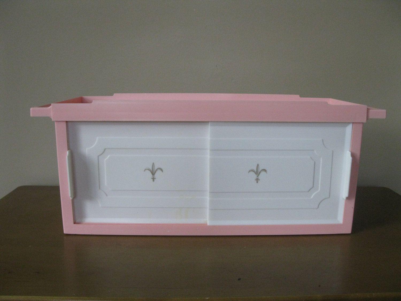 Mid Century PINK Bathroom Cabinet  Shelf  Plastic  Retro Bathroom  Medicine   Fleur