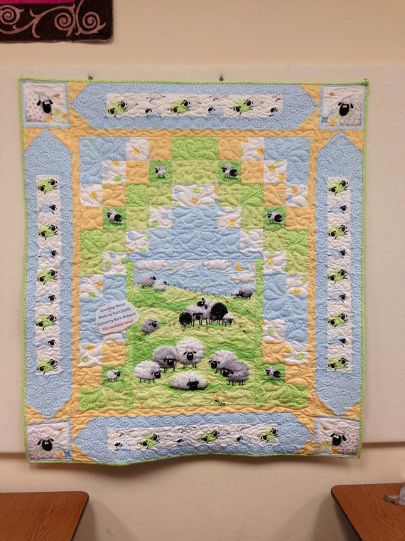 Counting Sheep Baby Quilt Kit Fabrics By Susy Bee Pattern