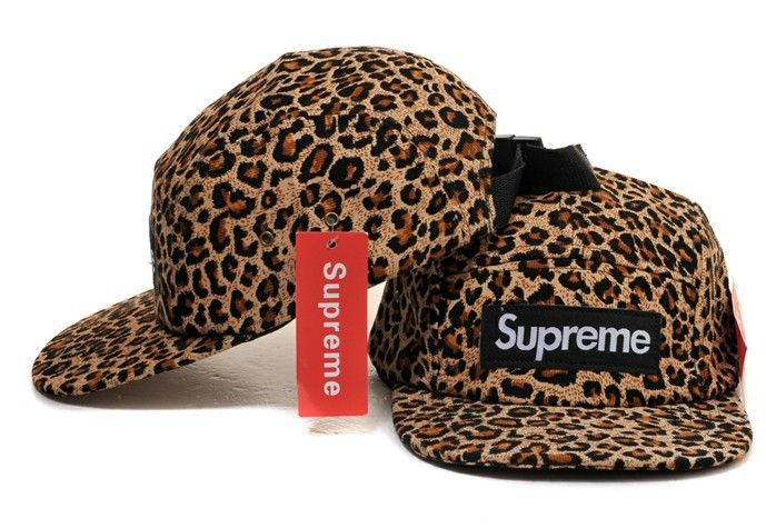 Supreme - 5 Panel Camp Snapback   Strapback Hat - Leopard Print - Supreme 68801dc69803