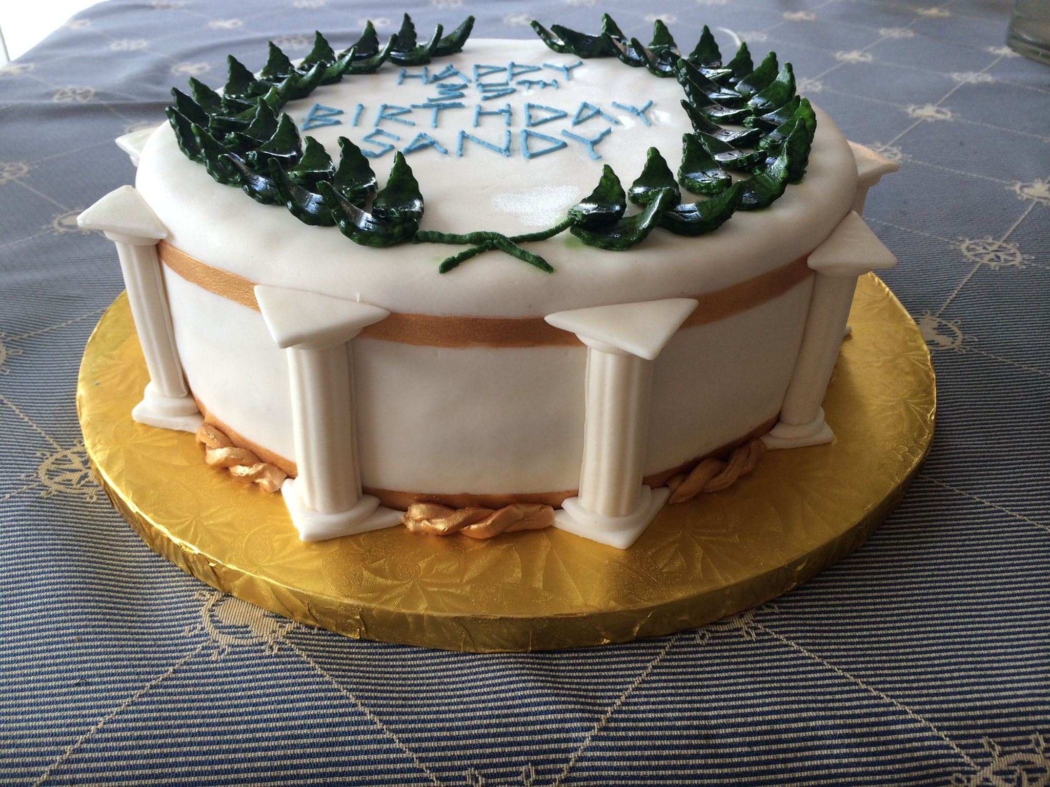 Greek Toga Party Cake Jocy S Cakes In 2019 Toga Party