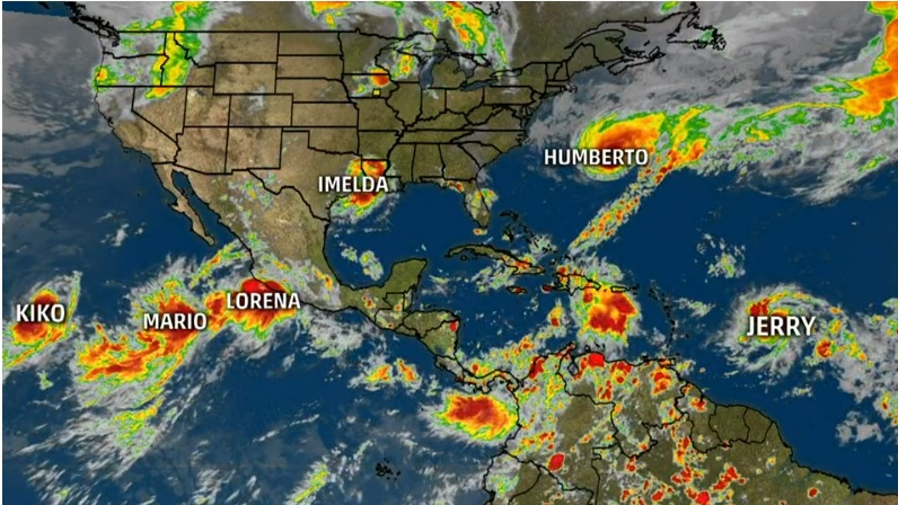 They Re Forming Like Roaches The 6 Tropical Storms Whirling At Once Have Tied A Record Hurricane Season Tropical Storm Storm