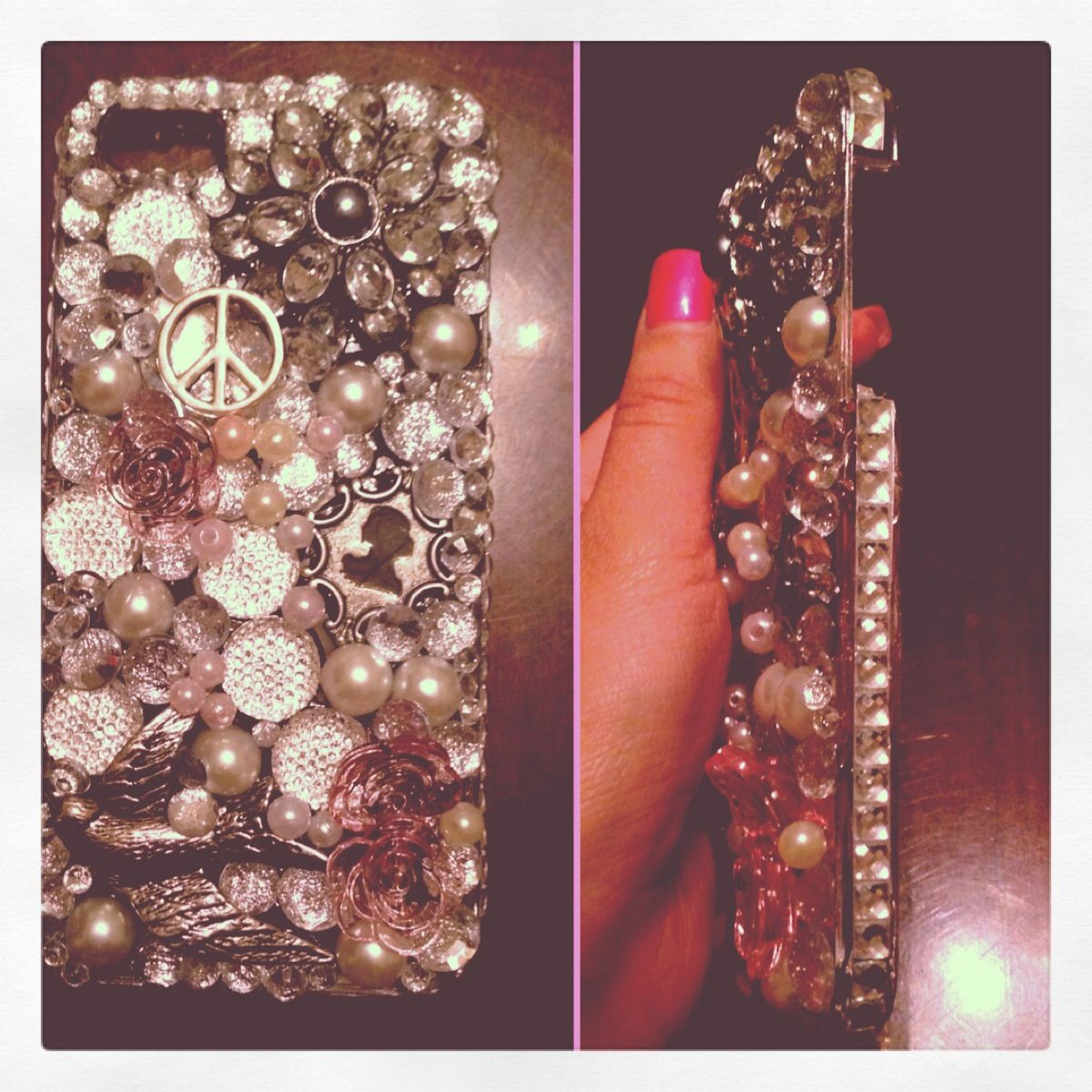iPhone 5 blingy case.