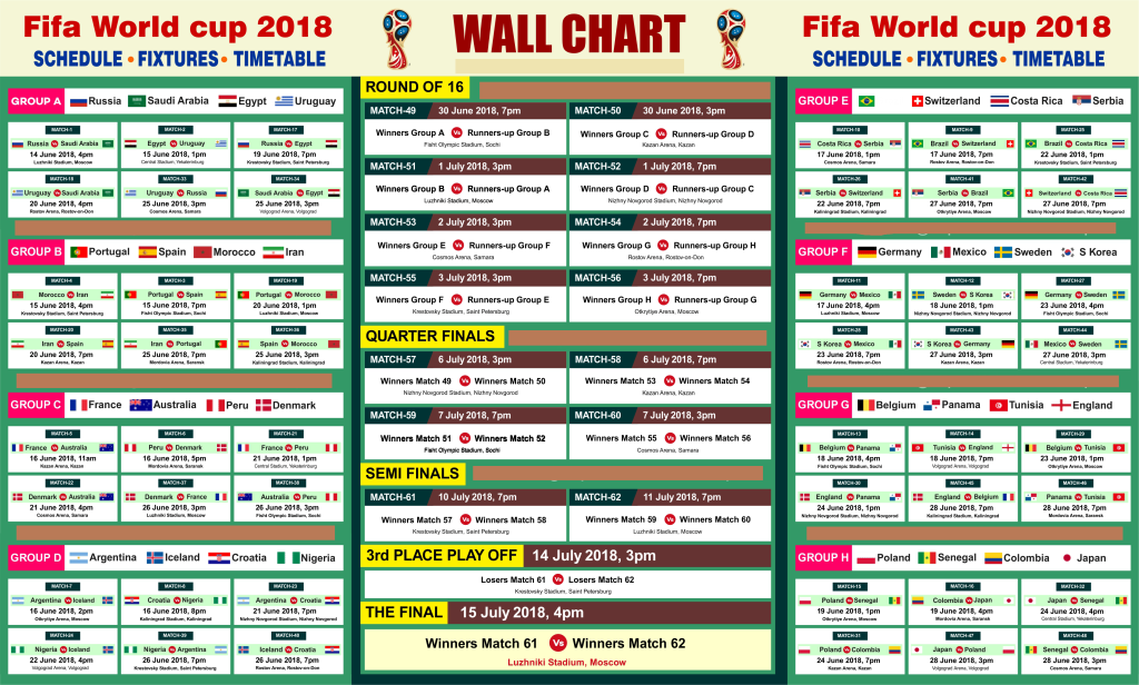 Image Result For Football World Cup 2018 Fixtures Download Ist Image Result For Football World Cup 2018 Fixt In 2020 World Cup Match World Cup Fixtures World Cup 2018