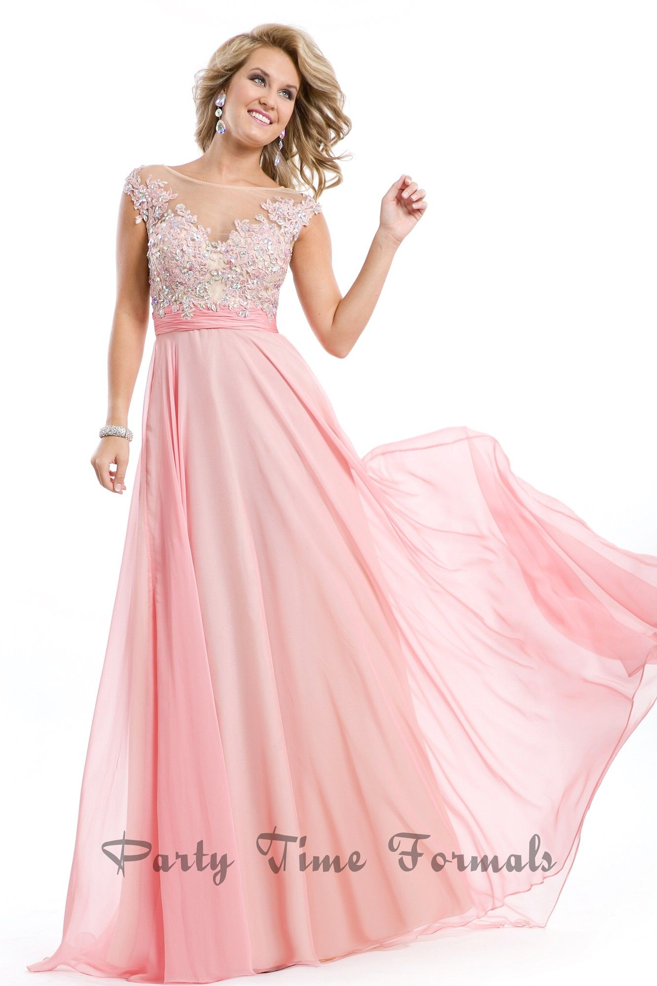 Amazing blush #prom dress by PartyTimeFormals #prom2014 #pocadiz ...