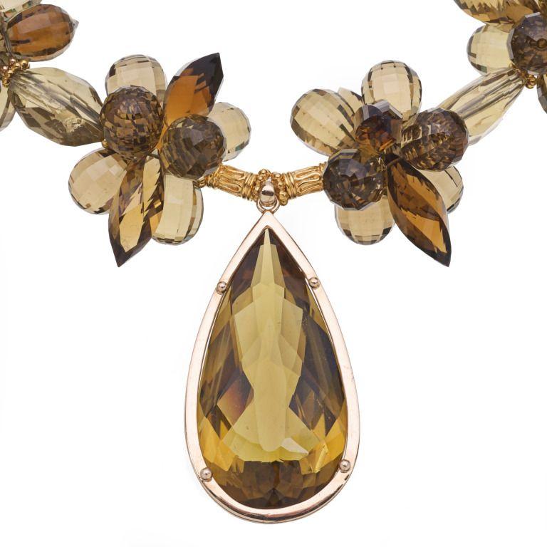 Lemon quartz pendant whiskey citrine lemon and smoky quartz and gold lemon quartz pendant whiskey citrine lemon and smoky quartz and gold necklace image 2 mozeypictures Images