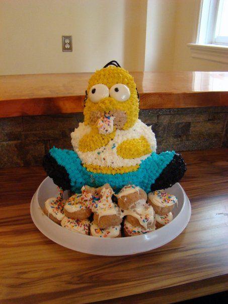 Homer cake, hacking Wilton 3D bear cake pan  | Cakes by