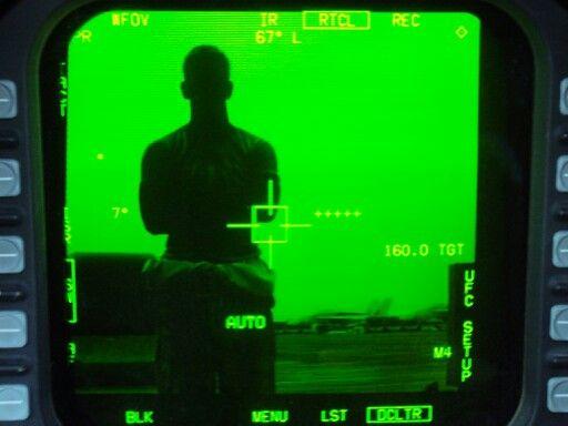 Military forward looking infrared selfie