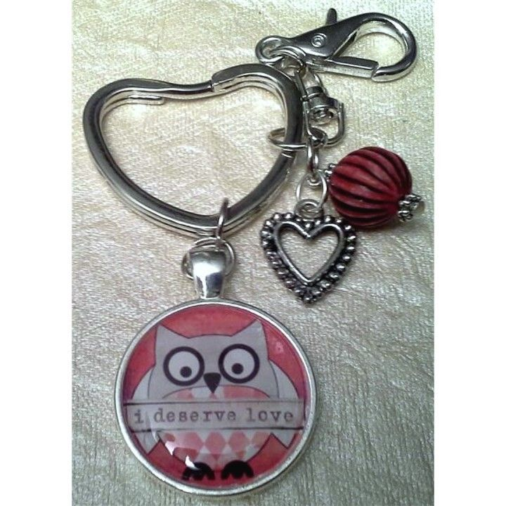 I Deserve Love Owl Key Chain from Joplin Necklaces for $5 on Square Market