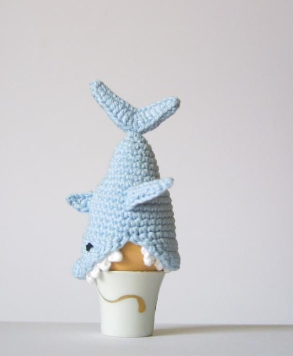 Crochet Shark Egg Cozy, PDF Pattern, Instant Download, Crochet Instructions #knittingpatternstoys