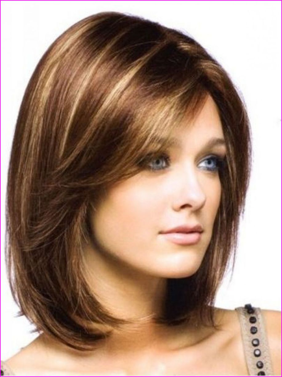 Medium Straight Hairstyles with Side Bangs  Haircuts for medium