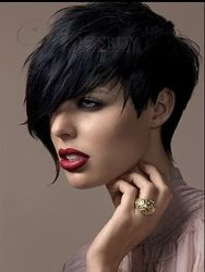 Online Shop High-end Custom Top Quality Natural Pixie Black Asymmetric Short Hair Wigs,Women Sex Products Synthetic Wig Free Shipping|Aliexpress Mobile