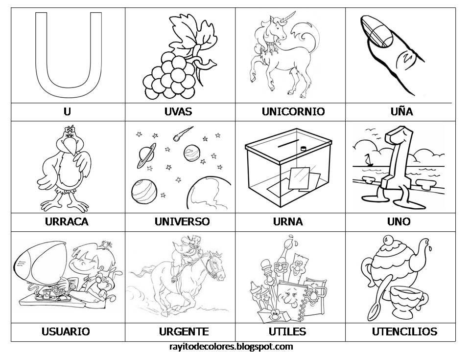 Rayitodecolores U Jpg 960 720 Vocales Para Colorear Fichas De Vocales Imagenes De Las Vocales