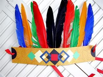 fun indian headdress diy and crafts pinterest indianer kindergarten und basteln. Black Bedroom Furniture Sets. Home Design Ideas