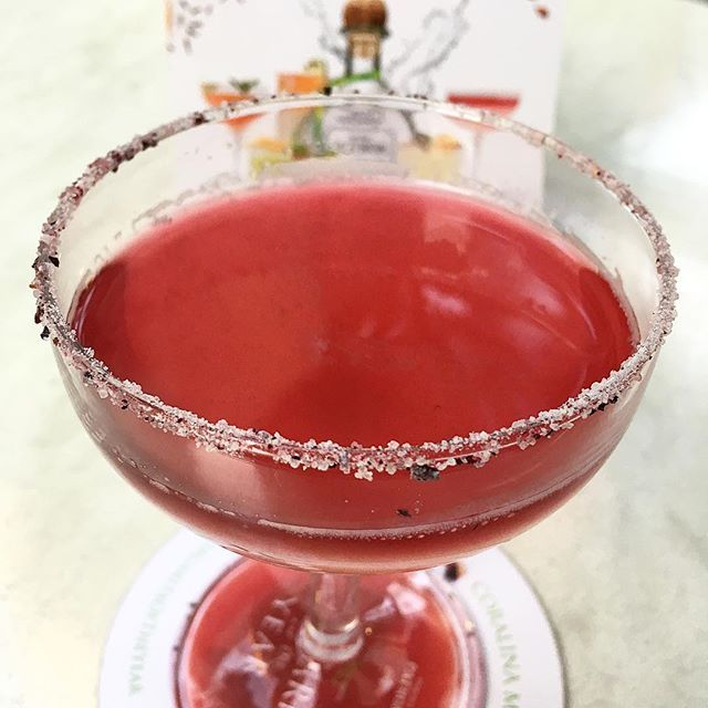 Tequila and red wine. #margaritaoftheyear  @simons_mx