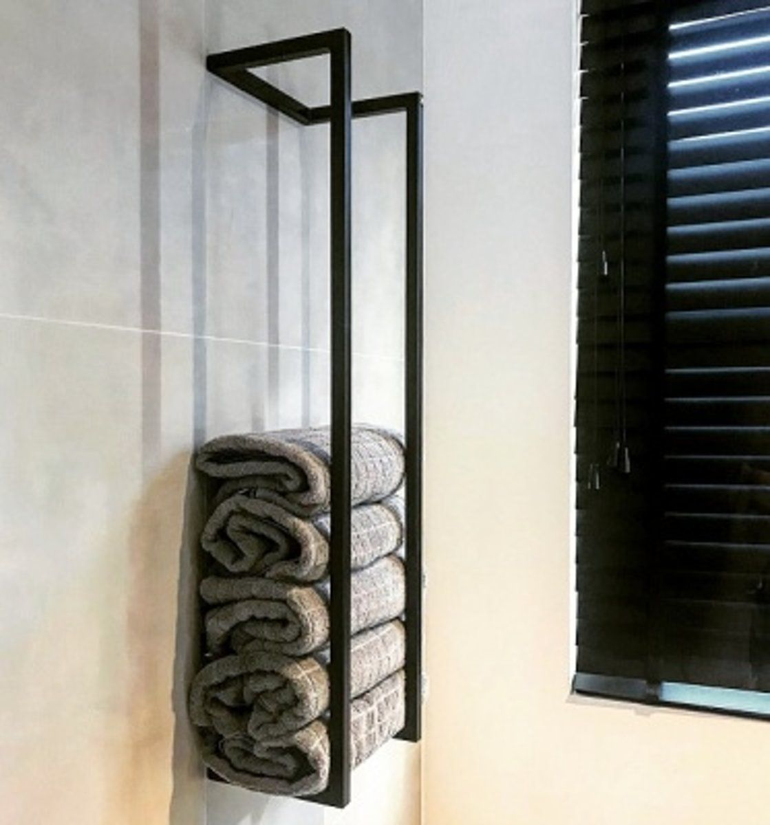 Handdoekenrek TLF interieurs zwart #badkamerinspiratie